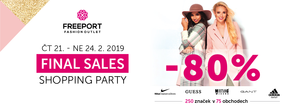 Final Sales shopping party 21.-24.2.2019 cz