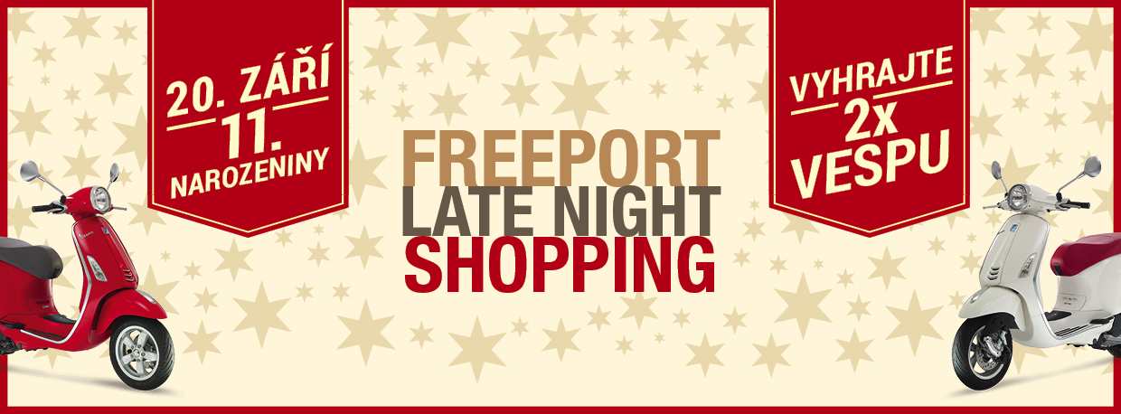 Late Night Shopping Freeport narozeniny